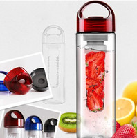 Wholesale Tritan sports fruit water bottle plastic cup outside sport lemon emperorship fruit cup