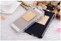 Cheap Wholesale - 2014 hot selling Luxury brand belt golden chain perfume bottle bag mobile phone silicone case cellphone cover for iPhone Samsung