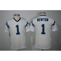 Cheap New Youth Boys Football Jerseys #1 Cam Newton White Limited American Football Jerseys Cheap Football Kits Mix Order All Teams Top Quality