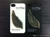 Cheap Angel Wing Mental PC Case Back Cover Cell Phone Skin Cases For Iphone 4 4S Mix Order DHL Free Shipping