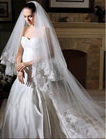 Exquisite Lace Edge Beading Long Bridal Veil Cathedral 3m On...