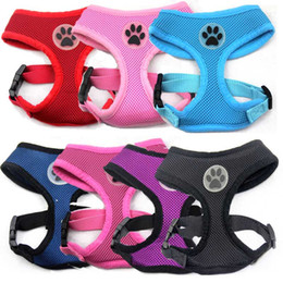 New design Soft Air Mesh pet Dog Harness with Paw Label Popular Pet Harness belt