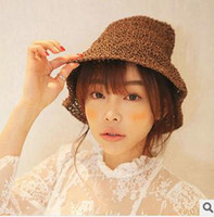 Cheap South Korea Shopping Stylenanda beach sun hat handmade Japanese female summer straw hat wholesale