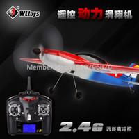 Cheap 32 pcs Lot 2.4G Remote Control 4CH RC Air plane Electronic model Radio Control Glider Aircraft WL Toys F929 F939