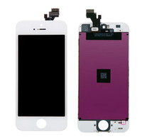 Cheap 50Pcs LCD Screen Replacement For iPhone 5 5G LCD With Touch Screen Digitizer Assembly Black&White Free DHL Shipping