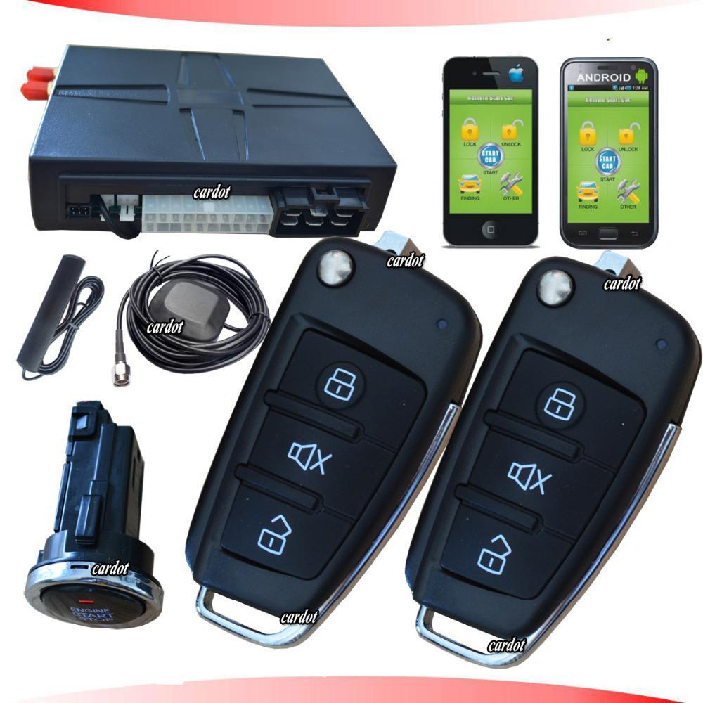 Cardot Flip Key Car Alarm With Gps Tracking Gsm Car Alarmpush Button Startremote Startmobile Lockunlockstartstop Engine