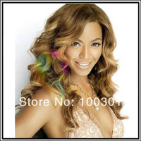 Wholesale Custom made Virgin Brazilian Hair Silk top Invisible Knots Beyonce Celebrity Blonde Full Lace Wig