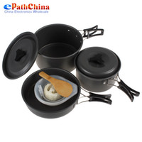 Wholesale Non stick Cookware Cooking Bowl Pot Pan Set for People Use For Outdoor Camping Hiking Backpacking