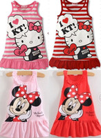 Cheap Wholesale-New 2014 Kids girls clothes cute Mickey Mouse Minnie Dress, 15 colors Children's dresses, baby girls clothing dress