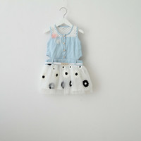 girls summer sling dress Wholesale new Korean children clothing jeans