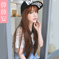 Wholesale Vivian straight hair wig women one piece long straight hair piece hair piece wig piece thicker then hair piece T3 München