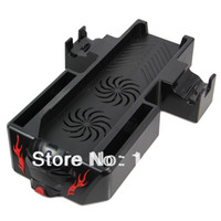 Cheap Dual Cool Console Stand Fan Cooling System Controllers Charger for XboX One wholesale free shipping #161216