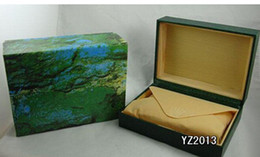 2015 new Mens Green Watch Box Original Wooden Inner Outer Woman's Men Watches Boxes Papers