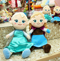 Girls kids games and toys - 20cm cm New Frozen Doll Elsa AND Anna toddler plush frozen olaf plush Sven Plush Toys Frozen A693