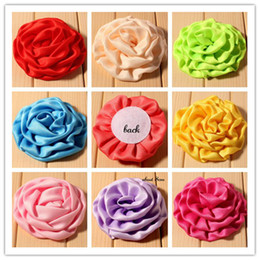 EMS Free 240pcs Hot Lace Rose Flowers Fabric Frilly Chiffon Flower Children Hair Flower Accessories Flower For Baby Girl Christmas Headwear