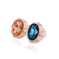 Cheap Solitaire Ring gemstone ring Best South American Women's Rose Gold Rings