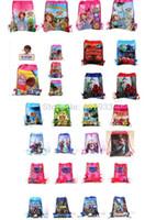 Wholesale 24pcs Free drawstring bag Frozen peppa pig sofia DOC mcstuffin Despicable Me Avengers kids handbags