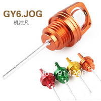 Cheap Modified motorcycle Motorcycle turning refires gy6 125 aluminum alloy dipstick Engine oil gauge test for Yamaha etc.