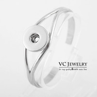 rhodium plated jewelry - Vocheng NOOSA Metal Snap Button Cuff Bracelet Interchangeable Jewelry Ginger Snaps Jewelry Vb