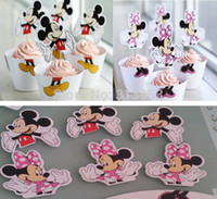 Wholesale new arrival souvenirs baby shower boy Girl Birthday Cupcake Wrappers Cake Toppers cake decoration