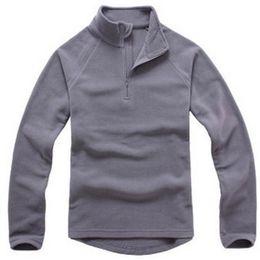 Wholesale-Men's Fleece Jacket Brand Sports Fashion Thermal Waterproof Windstopper Breathable Jacket