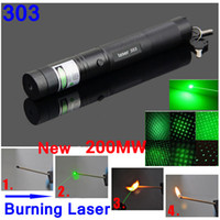 Wholesale Green Laser Pen nm MW Green Laser Pointer Zoom Burning Matchs With Star Filter