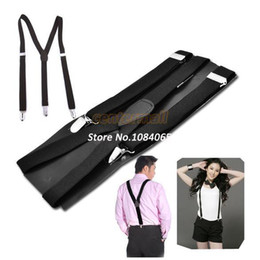 Wholesale New Adult Unisex Women Men Elastic Suspenders Adjustable Y Shape Braces Dress Suspender Clip on Elastic Belt