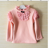 T-shirt a manica lunga New Tartaruga collo ragazza di cotone, inverno e autunno camicia buona base 100-110-120-130-140