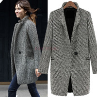 Wholesale European Fashion Winter Coat Women Long Oversize Trench Coat Lapel Thicken Warm Wool Jacket Overcoat Jaqueta Casacos Femininos