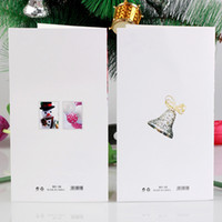 Wholesale Creative d flash gold Christmas greeting CARDS for Christmas CARDS by hand