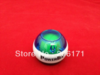 Wholesale 90pcs A Powerball Power Gyroscope handball Wrist Ball Grip Spin Power Ball lowest price White band DHL free