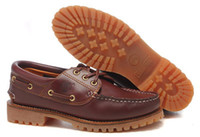 Wholesale in the spring and autumn summer season senior Casual boat shoes waterproof leather and rubber soles shoes
