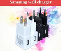 L'Union européenne nous 2 a mur chargeur adaptateur pour le Samsung Galaxy S4 i9500 S3 i9300 note 2 N7100 noir blanc
