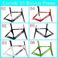 Wholesale 2014 Cervelo S5 New Arrival Carbon Bike Frame S5 Real Carbon Fibre Road Cycling Bicycle Frame UD Weave Gloosy Matte Bike Frame