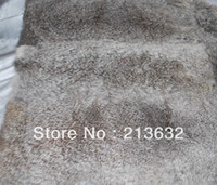 Wholesale Style Luxury material stuff leather rabbit real fur cheap and good quality Garment Textile accessories free ship