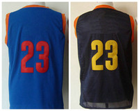 Wholesale News Style Jersey New Arrival CLE Basketball Jerseys Black Blue Top Players Jerseys Hot Sale