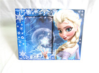photo frame gifts - Children s Day Gift Photo Paper Frame Princess Froze Elsa Anna Home Decorate Picture Frames Kids Girls Snow Queen Table Decoration H1366