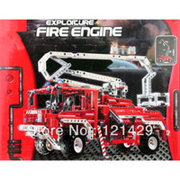 Cheap Without box 1036pcs Free Shipping Decool 3323 fire truck children educational building blocks assembling toys gift