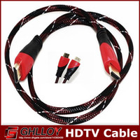 Wholesale HDMI to HDMI Cable HDMI Version Gold Digital Audio Video M M M Cable Male to Male Cable Adapter for p PS3 HDTV LCD Black P