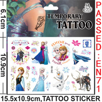 Wholesale 5pcs New Style Frozen Tattoo Sticker Princess Elsa Anna x10 cm Waterproof Temporary Tattoo For Kids Girls Toys Party
