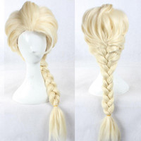 Cheap 50pcs FROZEN Elsa wig frozen wigs Silver white Blonde Weaving Braid Tails Movies frozen Snow Queen Cosplay Wig women wigs cheap 38240940593