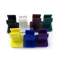 Wholesale Colorful Stand Car Holder for E Cigarette battery ego stand holder Cigarette display with sticky bottom colorful silicone car holder