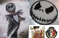Wholesale cartoon Nightmare Before Christmas Jack Iron On or Sew on Patch Sticker Fabric Jacket Patch Kids Cloth DIY Accessories
