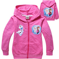 Wholesale 8 styles Create snow and ice Frozen baby clothes fleece children s wear coat Private label coat