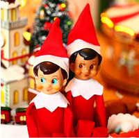 Wholesale 2014 HOT Quality Bonbon Box elf on the shelf action figure collection vintage toy Classic Christmas doll