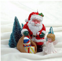 Santa Claus small gift cake candle gifts for children Christ...