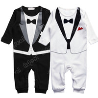 Wholesale Kids Baby Infant Boy s Gentleman Modelling Romper Jumpsuits Children Long Sleeve Climb Clothes Outwear Clothes