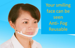 Wholesale Service Mask Transparent Plastic Face Mask for Cook Waiter Waitress Bar Attendant Anti frost Mask Anti fog Face Mask