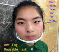 Wholesale Service Mask Transparent Plastic Face Mask for Cook Waiter Waitress Bar Attendant Anti frost Mask Anti fog Face Mask