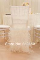 Wholesale charming desgin WHITE chair cover for chiavari chairs